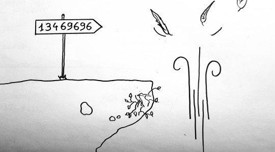 530 – La Tombe est dans le Panneau.